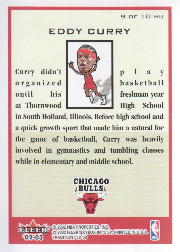 Details about 2002-03 Fleer Tradition Heads Up #HU9 Eddy Curry Chicago Bulls