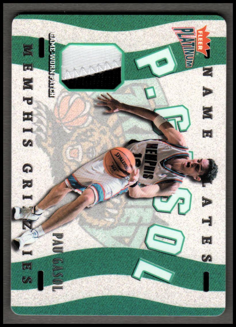 2002-03 Fleer Platinum Nameplates #PG Pau Gasol/350