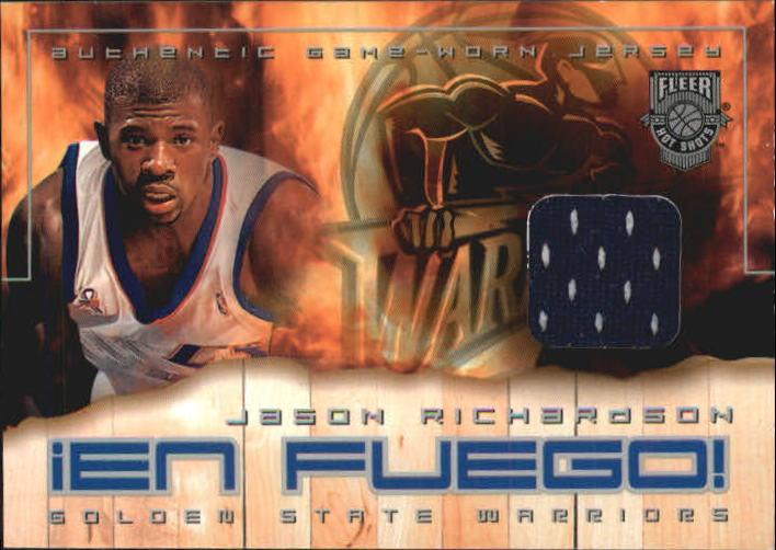2002-03 Fleer Hot Shots En Fuego Game-Used #JR Jason Richardson