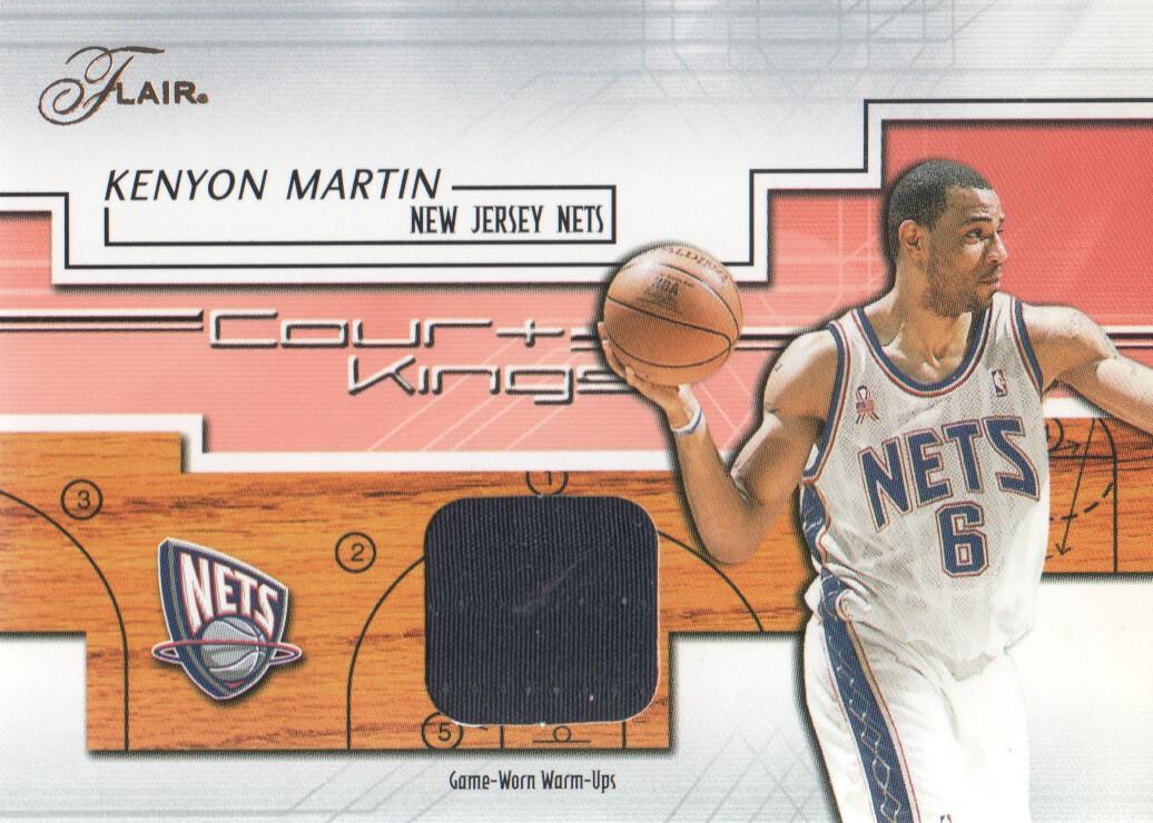 10f561942 2002-03 Flair Court Kings Game Used  CKKM1 Kenyon Martin WU