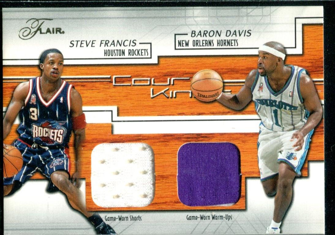 941bdb766 2002-03 Flair Court Kings Game Used Dual  BD SF Baron Davis