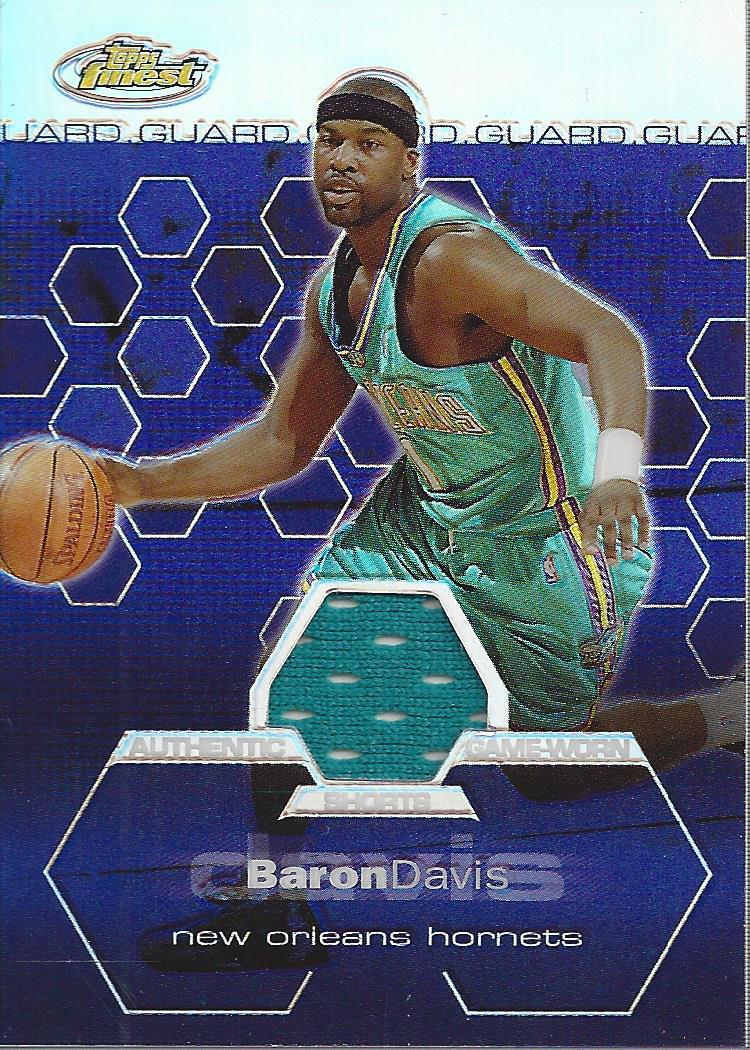 2002-03 Finest Refractors #121 Baron Davis JSY