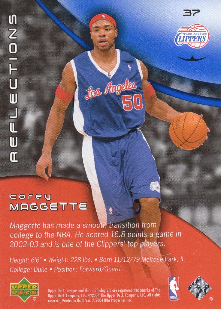 2003-04 Upper Deck Triple Dimensions Reflections Sapphire #37 Corey Maggette back image