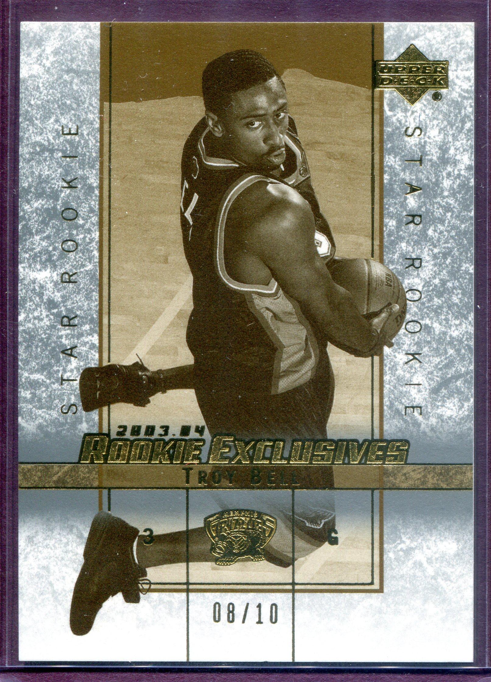 2003-04 Upper Deck Rookie Exclusives Variation Super #12 Troy Bell