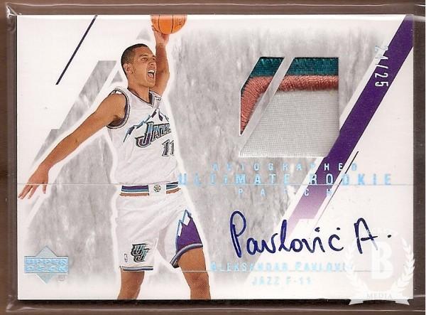 2003-04 Ultimate Collection Limited #142 Aleksandar Pavlovic JSY AU