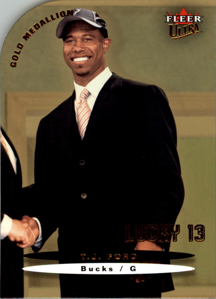 2003-04 Ultra Gold Medallion #178 T.J. Ford L13