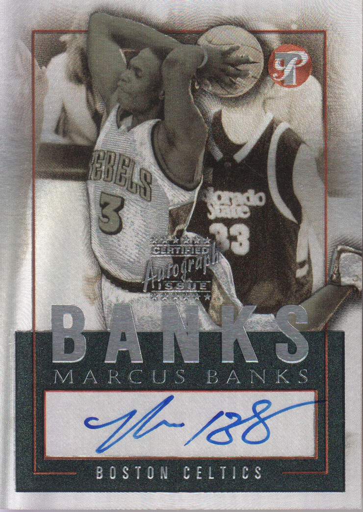 2003-04 Topps Pristine Personal Endorsements #MBA Marcus Banks E