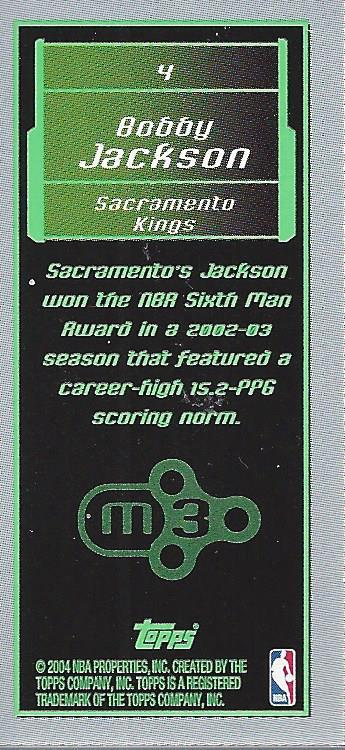 2003-04 Topps Rookie Matrix Minis #4 Bobby Jackson back image