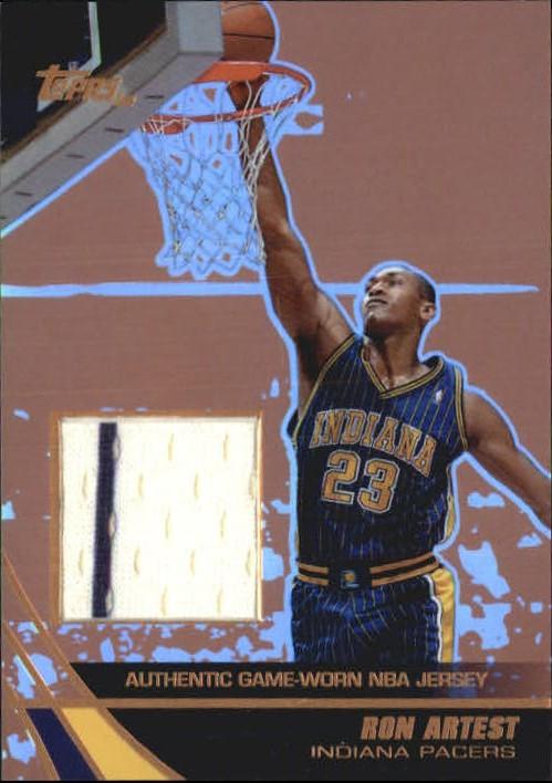 5d1c5ac73d37 2003-04 Topps Jersey Edition Copper Basketball Card  RAR Ron Artest ...