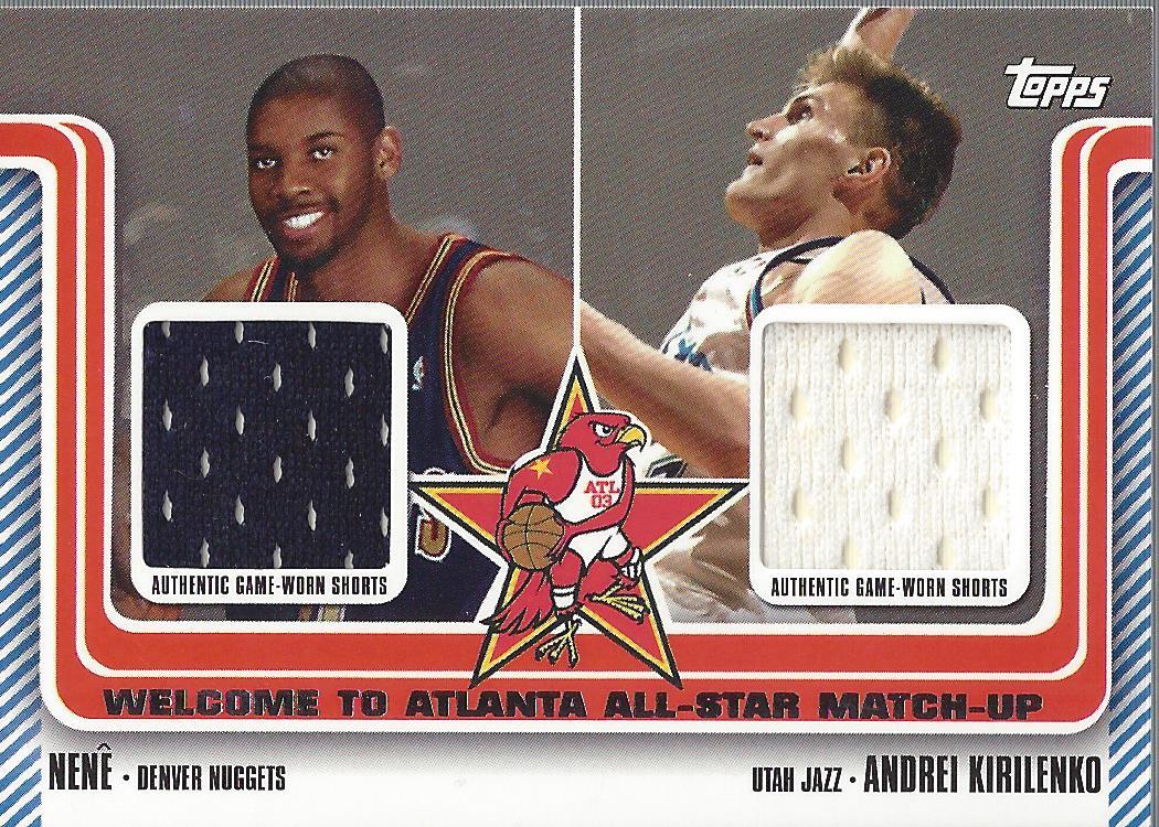 2003-04 Topps Welcome to Atlanta Dual Relics #WA12 Nene/Andrei Kirilenko