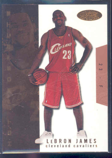 2003-04 Hoops Hot Prospects #112 LeBron James RC