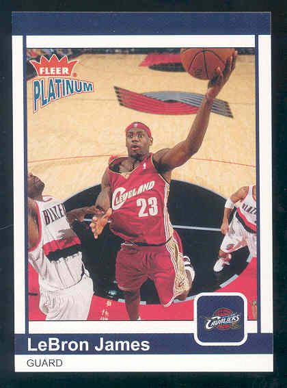 2003-04 Fleer Platinum #183 LeBron James RC