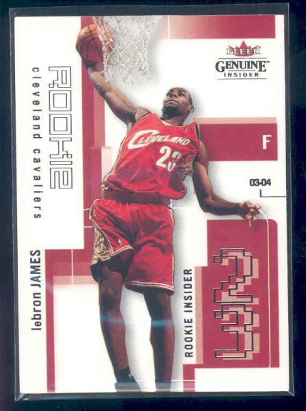 2003-04 Fleer Genuine Insider #104 LeBron James RC