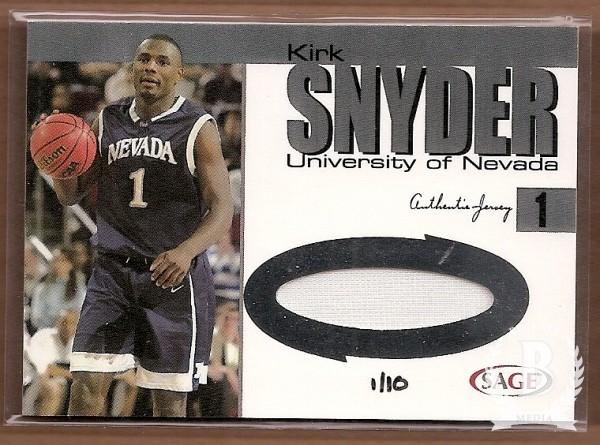 2004 SAGE Jerseys Platinum #J12 Kirk Snyder