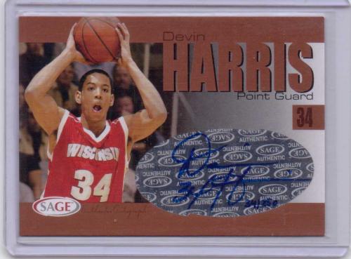 2004 SAGE Autographs Bronze #A13 Devin Harris/250
