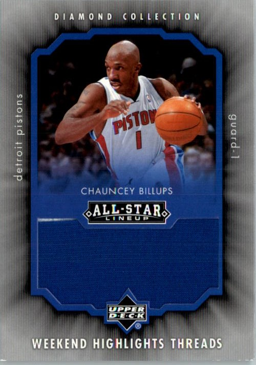 2004-05 Upper Deck All-Star Lineup Weekend Highlights Threads #CB Chauncey Billups