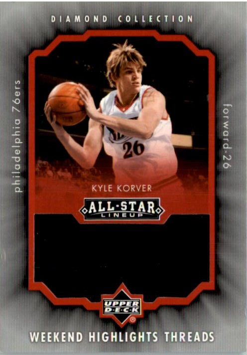 2004-05 Upper Deck All-Star Lineup Weekend Highlights Threads #KK Kyle Korver