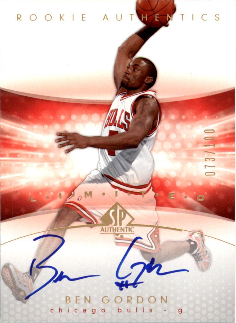 2004-05 SP Authentic Limited #185 Ben Gordon AU