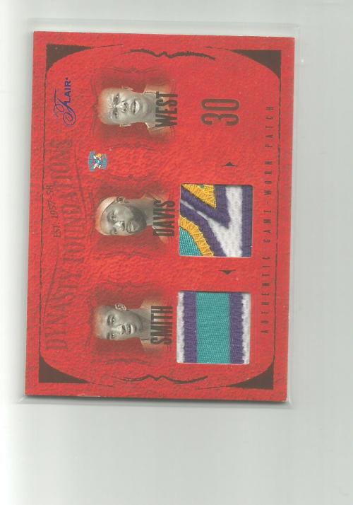 2004-05 Flair Dynasty Foundations Patches Dual #9 David West/Baron Davis JSY/Jamal Mashburn/Jamaal Magloire/J.R. Smith JSY