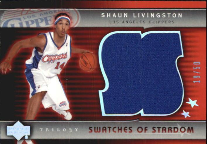 2004-05 Upper Deck Trilogy Swatches of Stardom #SL Shaun Livingston