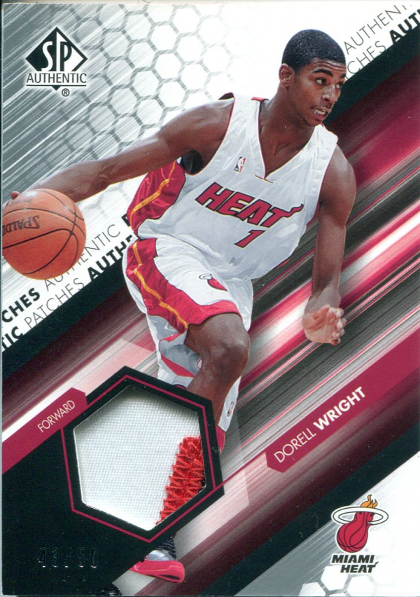 2004-05 SP Authentic Fabrics Patches #DW Dorell Wright