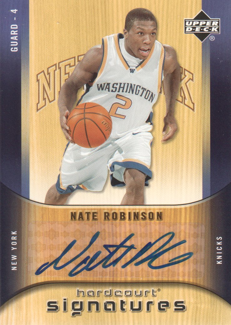 2005-06 Upper Deck Hardcourt Signatures #NR Nate Robinson