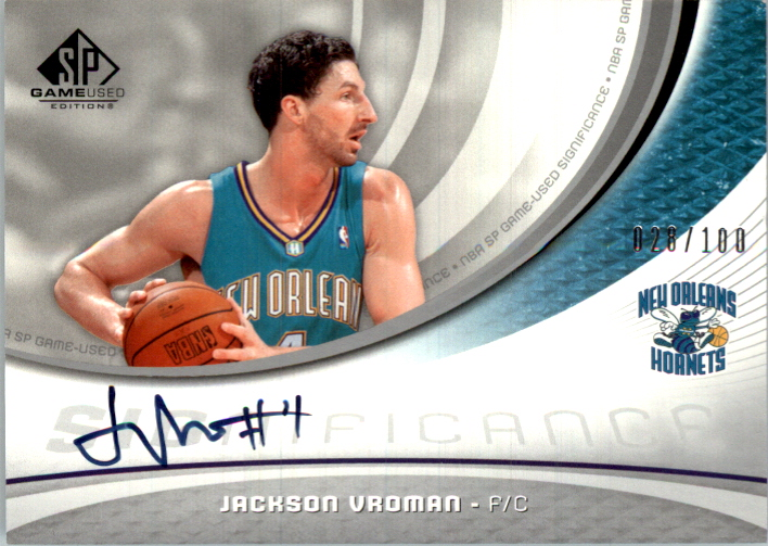 55c22434d 2005-06 SP Game Used SIGnificance  JV Jackson Vroman