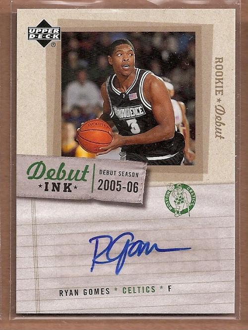 2005-06 Upper Deck Rookie Debut Ink #RG Ryan Gomes