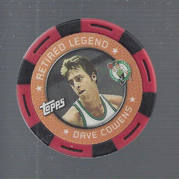 2005-06 Topps NBA Collector Chips Red #4 Dave Cowens