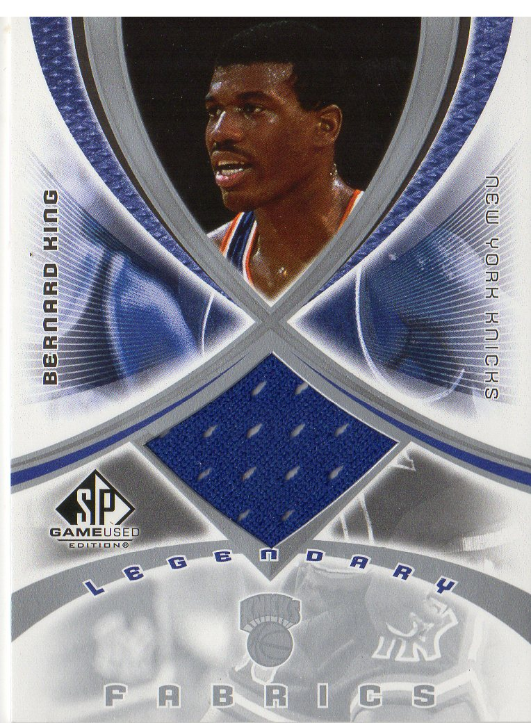 0563fdfd8 2005-06 SP Game Used Legendary Fabrics Basketball Card  BK Bernard King Jsy