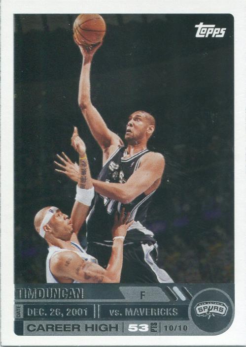 2005-06 Topps Big Game #25 Tim Duncan