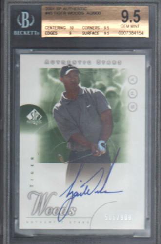2001 SP Authentic #45 T.Woods AS AU/900 RC