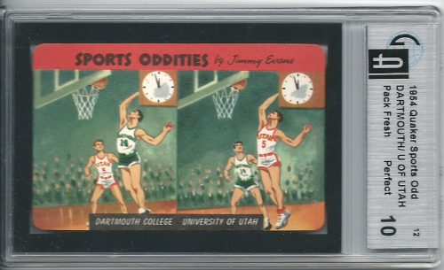 1954 Quaker Sports Oddities #12 Dartmouth College BK