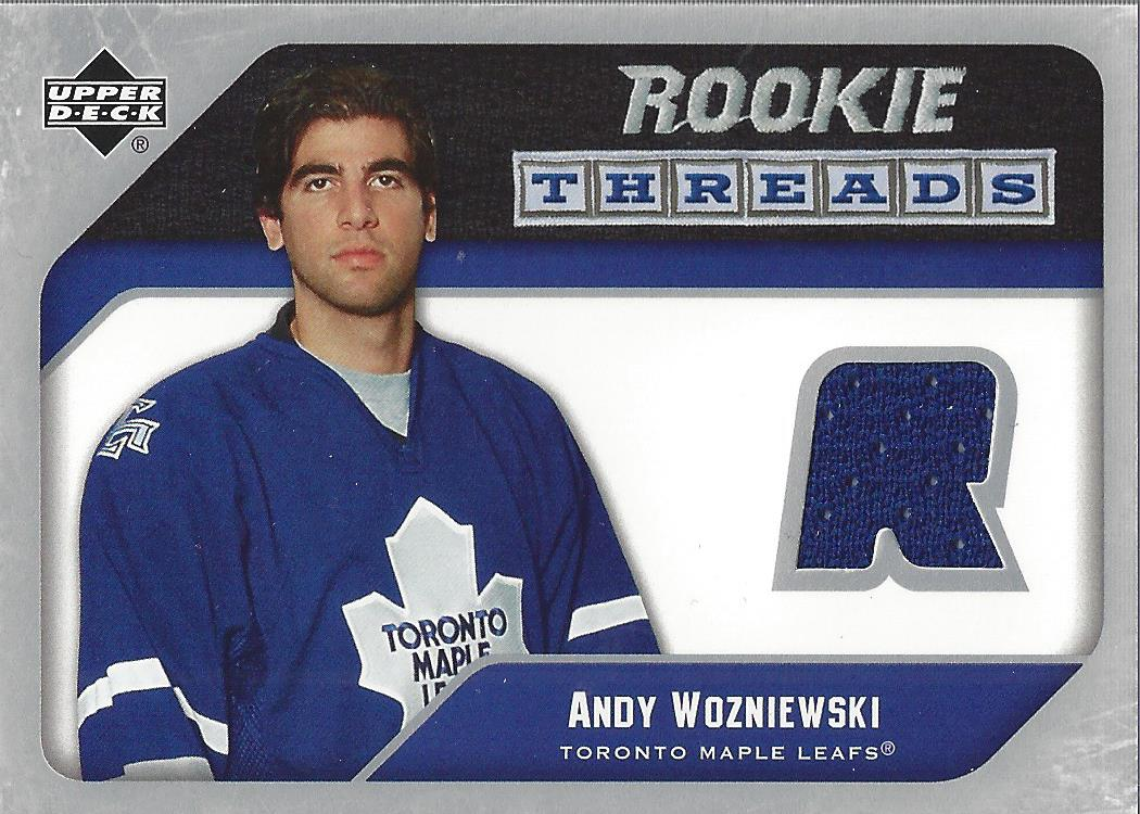 2005-06 Upper Deck Rookie Threads #RTAW Andrew Wozniewski