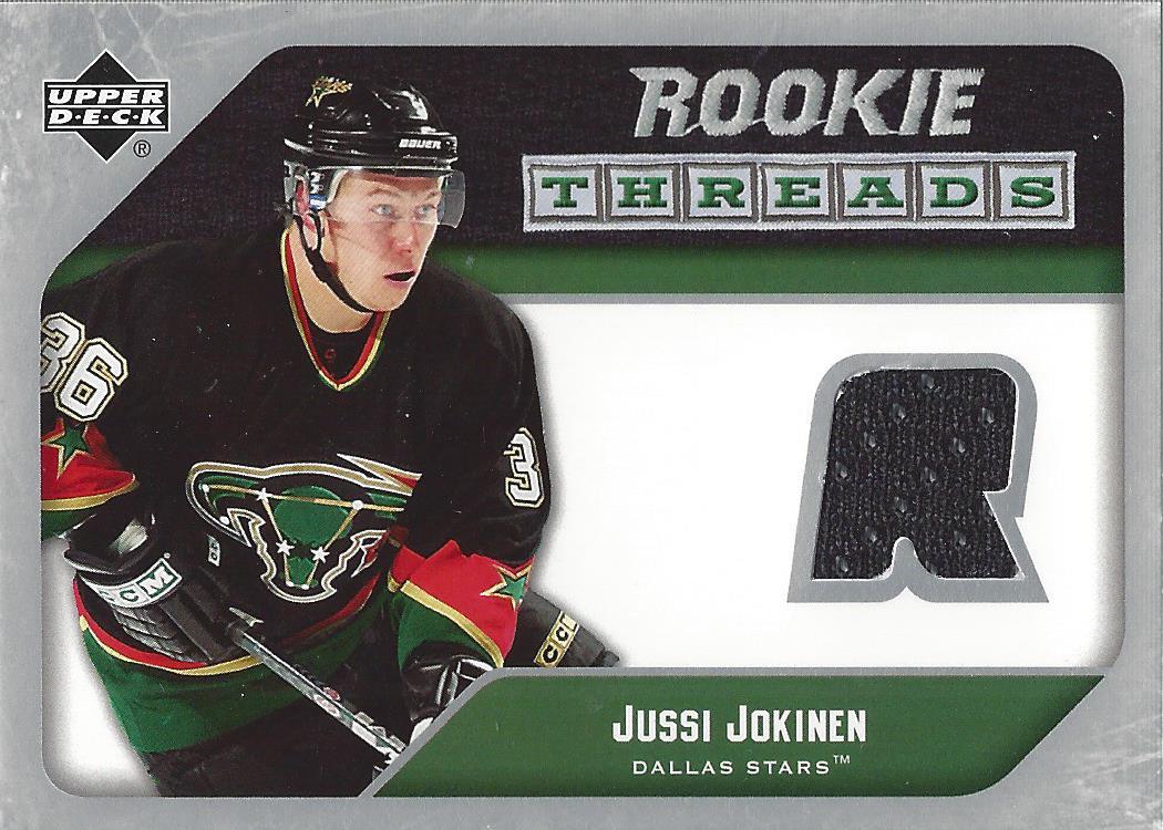 2005-06 Upper Deck Rookie Threads #RTJJ Jussi Jokinen