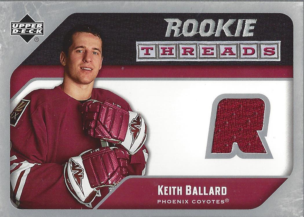 2005-06 Upper Deck Rookie Threads #RTKB Keith Ballard