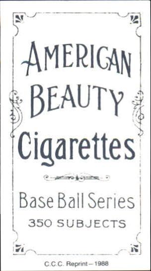 1909-11 T206 #4 Bill Abstein back image