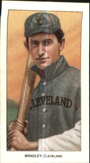 1909-11 T206 #45 Bill Bradley with Bat