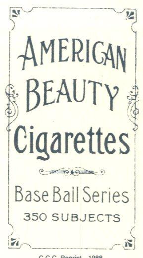 1909-11 T206 #51 Roger Bresnahan/Portrait back image