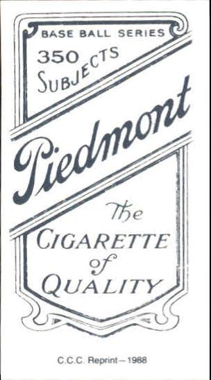 1909-11 T206 #57 Mordecai Brown/Chicago Shirt back image