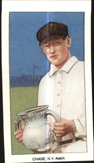 1909-11 T206 #83 Hal Chase/Holding Trophy