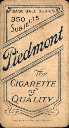 1909-11 T206 #145 Tom Downey/Fielding back image