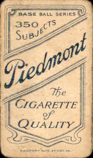 1909-11 T206 #312 George McBride back image