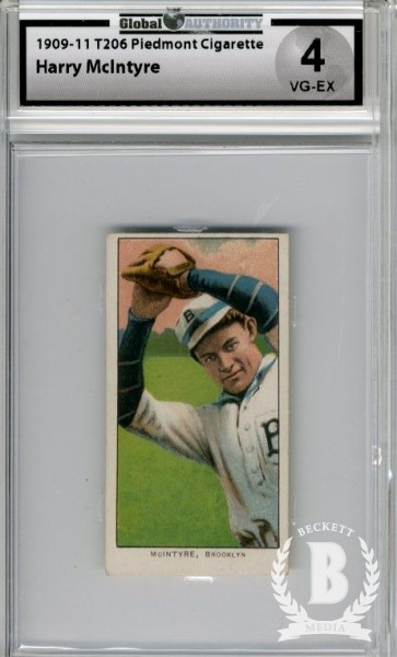 1909-11 T206 #324 Harry McIntyre/Brooklyn