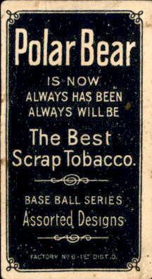 1909-11 T206 #488 Joe Tinker/Bat off Shoulder back image