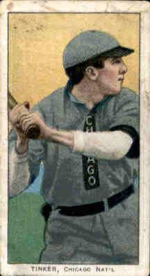 1909-11 T206 #488 Joe Tinker/Bat off Shoulder