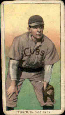 1909-11 T206 #490 Joe Tinker/Hands on Knees