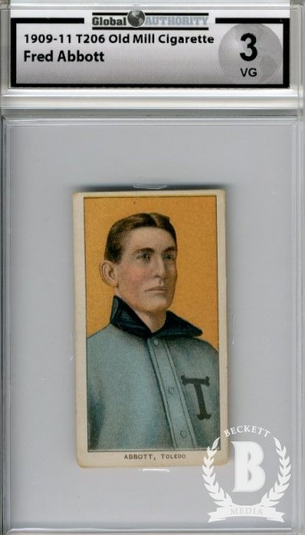 1909-11 T206 #3 Fred Abbott ML