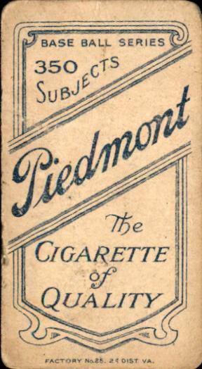 1909-11 T206 #3 Fred Abbott ML back image