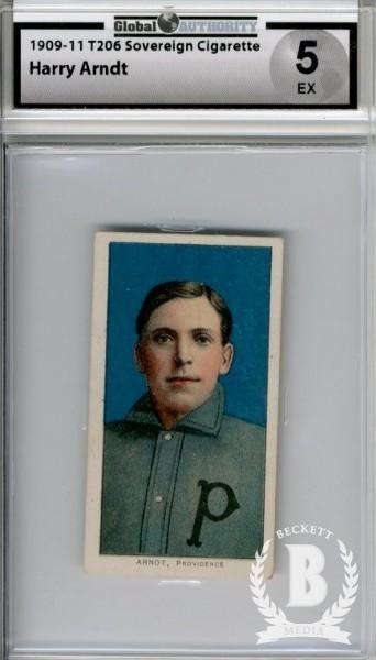 1909-11 T206 #13 Harry Arndt ML